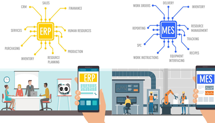 Sự khác biệt giữa hệ thống MES và ERP