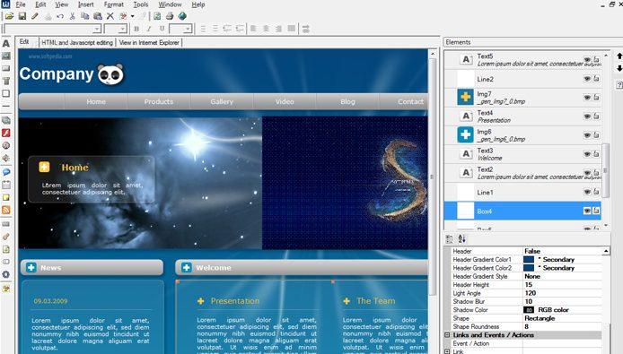 Phần mềm thiết web kéo thả đơn giản - Web Creator Pro