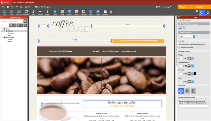 Phần mềm thiết kế website đơn giản - WebAcappella