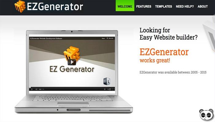 Thiết kế website với công cụ kéo thả - EZGenerator