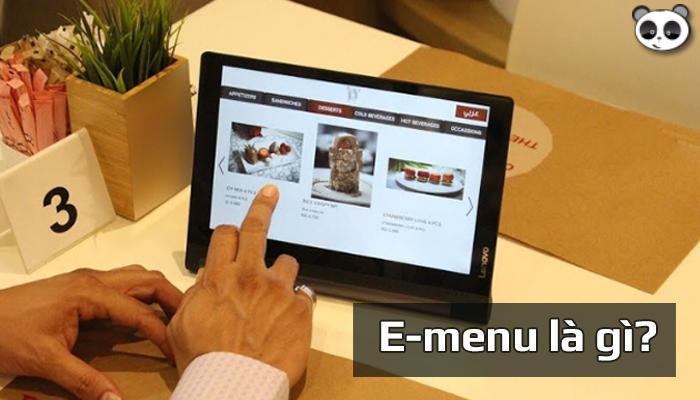 E-menu là gì? Lợi ích sử dụng menu điện tử trong quán Cafe