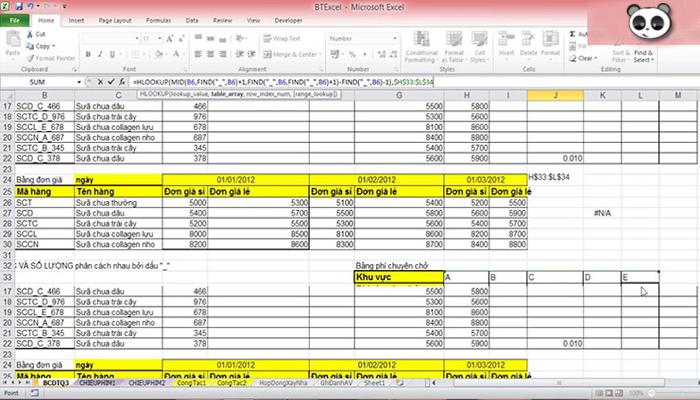 Phần mềm miễn phí là file Excel